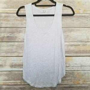 Madewell Grey Heathered Scoop Tank XS